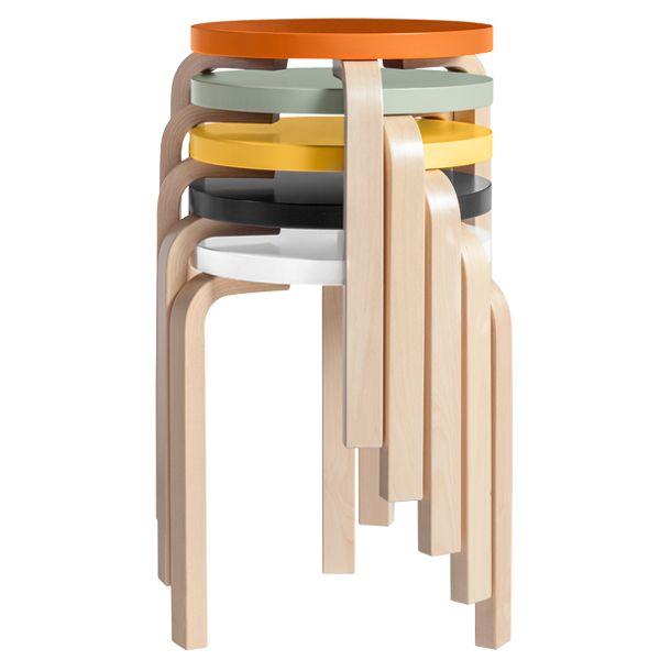 Aalto stool 60, painted seat