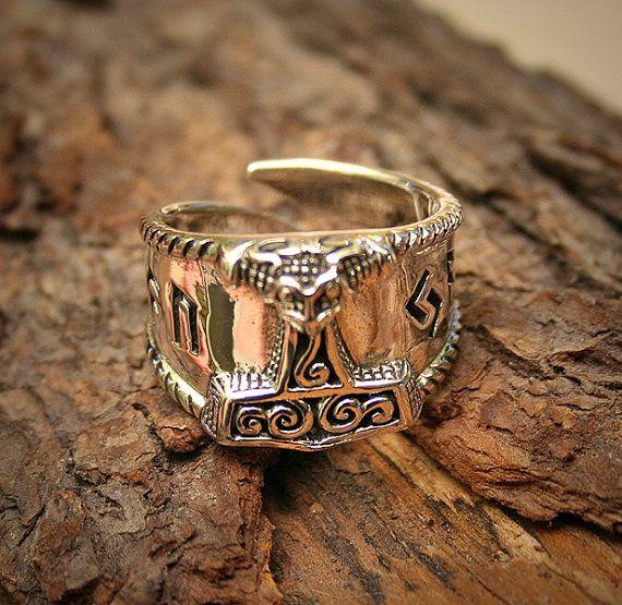 NorseVikings Rings, Fashion, Hors Head, Horses Head, Runes, Jewelry, Thor Hammer, Sterling Silver Rings, Norway