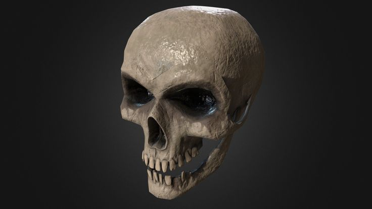 Frowning Skull (Game Model) by makivic
