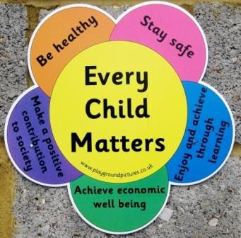 'Every Child Matters' is a new approach to help bring changes to the well-being of children in the UK.  The Government wanted to make sure that every child had the support they needed to Stay healthy, Be safe, Achieve economically, Contribute to society and positively enjoy life.  By Karen Khilna and Dona