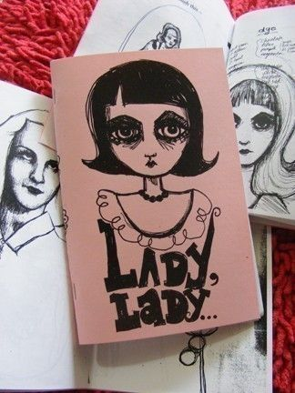 CRAZY SALE Pdf Digital Zine LADY LADY Zine Comic Diary Journal Thing - INSTANT DOWNLOAD for $3.00