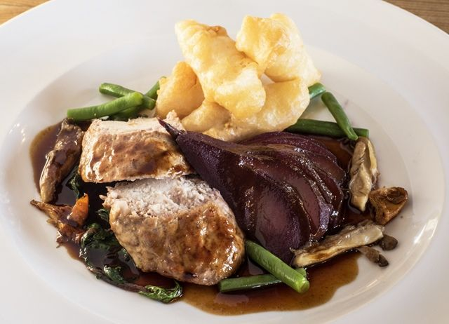 Breast of Partridge 'en Crépinette' with Salsify Beignets and Poached Pear | Great British Chefs
