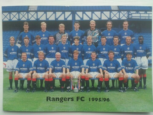 Glasgow Rangers promo signed team photo 1995-96