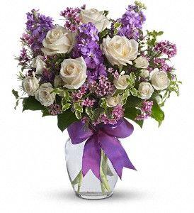 reception table flowers: White Rose, Flower Bouquets, Beautiful, Flower Arrangements, Enchanted Cottages, Flower Ideas, Floral Arrangements, Purple Bouquets, Purple Flower