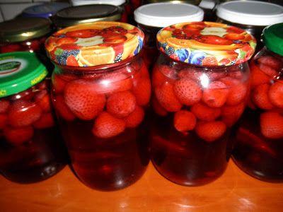 Gotowanie i pieczenie - I love it .: Domowy kompot z truskawek na zimę