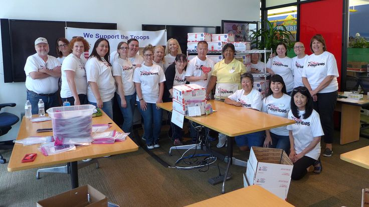 Walt Disney Travel Company Packs More than 10,000 Military Care Packages in Anaheim, Calif., for Troops Overseas | Disney Parks Blog