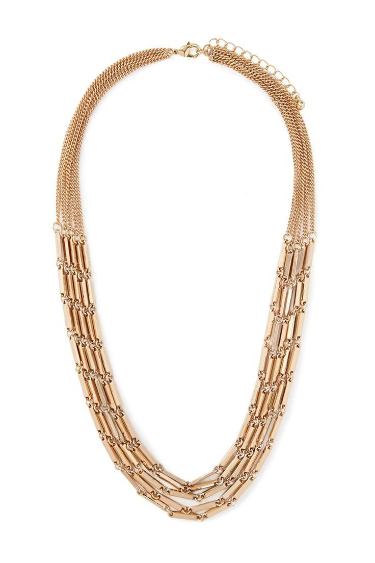 Layered Matchstick Necklace
