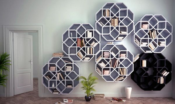 Zelli and Mini Zelli Bookshelves - Design Milk