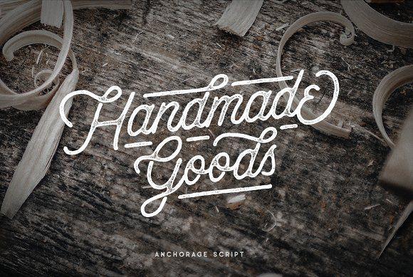 Anchorage - Vintage Script Typeface by pratamaydh on @creativemarket