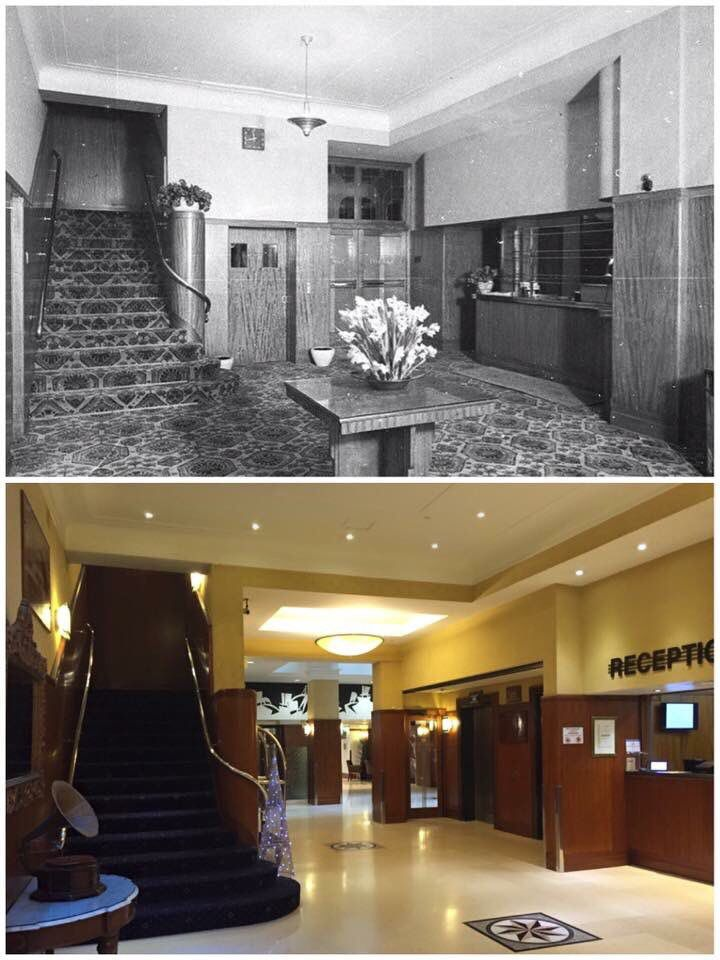 Foyer of the Great Southern Hotel, Haymarket 1940 > 2015 [State Library NSW > Curt Flood]