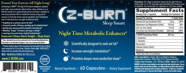 "Z BURN Night Time Fat Loss Supplement 60 Capsules – ""Sleep Great, Lose Weight!"" – Scientifically designed to attack fat all night long, while promoting deeper more productive sleep without morning grogginess. This is something different with Z BURN Night Time Fat Loss as you are supposed to take it 30 minutes prior to bedtime. Z-burn is a non-stimulant fat burner that may also increase sleep quality. Z BURN Night Time Fat Loss Supplement 60 Capsules- out of many fat burners that you will…"