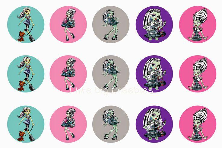 Monster High bottlecap images (Frankie Stein bottlecap images) #monsterhigh