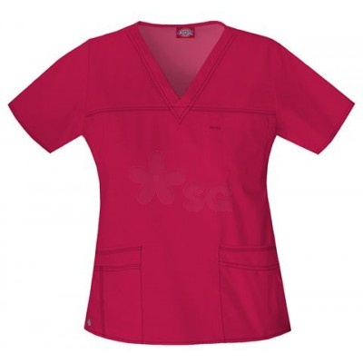 Dickies Youtility Basic Red Scrub Top