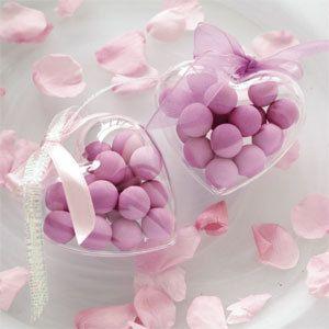 100 scatoline trasparenti cuore porta confetti plexiglass MATRIMONIO segnaposto | eBay