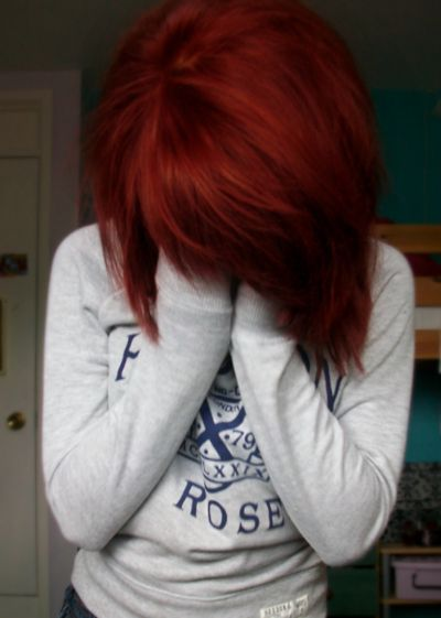 i love this red hair color. Mine used to be this way...