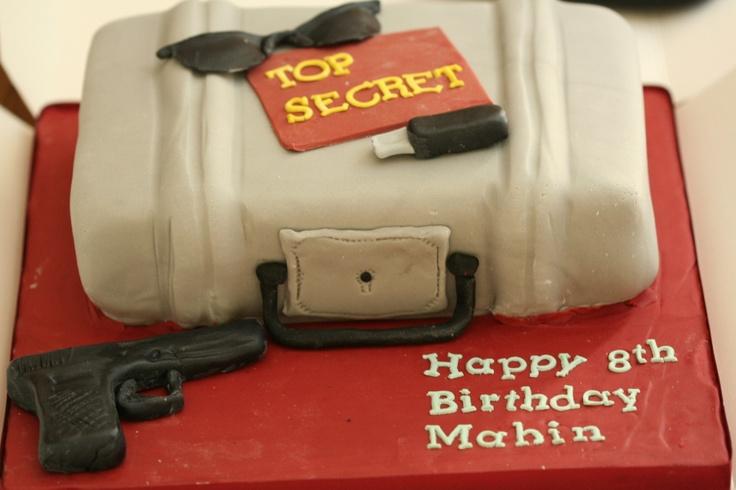 Spy Themed Cake For A 8yr Old Secret Agent Birthdays
