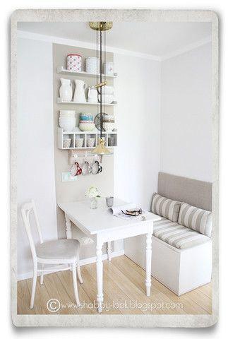 Stilvolle, Tisch, Essen In Der Kleinen Küche Ideen