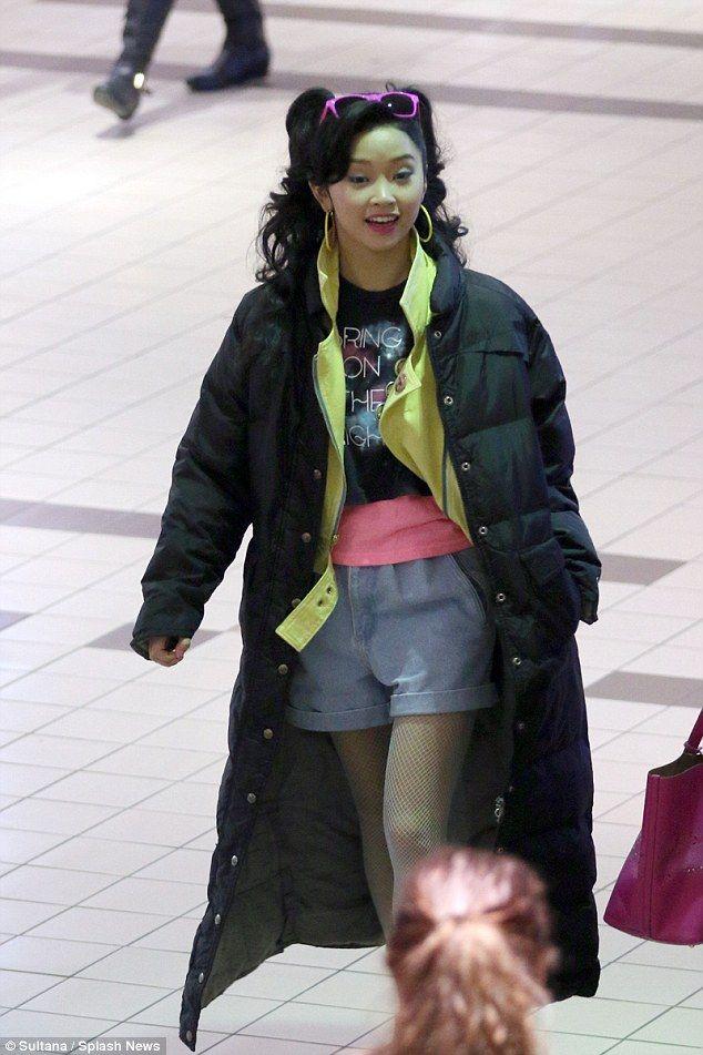 Lana Condor sur le tournage de X-Men Apocalypse