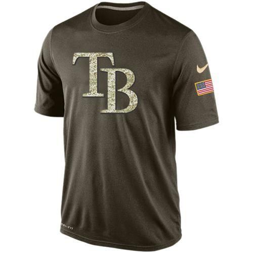 Men's Tampa Bay Rays Salute To Service Nike Dri-FIT T-Shirt