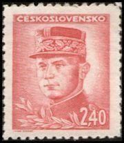 Znaczek: Milan Rastislav Štefánik (Czechosłowacja) (Portraits) Mi:CS 468,Sn:CS 296,Yt:CS 410,AFA:CS 324,POF:CS 421