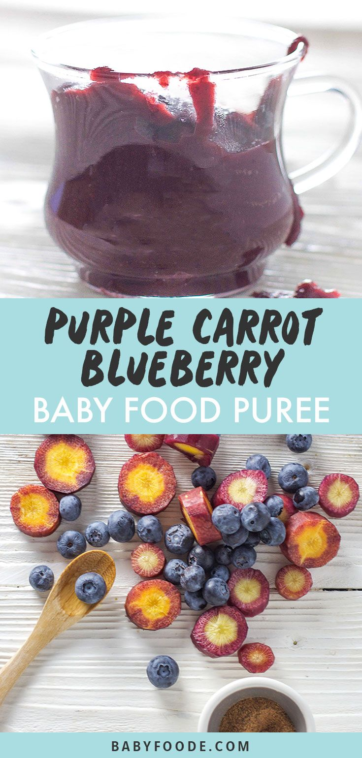 Purple Carrots, Blueberries with Nutmeg Baby Food Puree