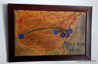 Foster Leathercraft: Map, North America in Quarters