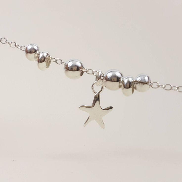 Bracelet étoile femme bracelet argent chaîne bracelet minimaliste bracelet fin argent bracelet étoile de mer bracelet chaine bracelet argent