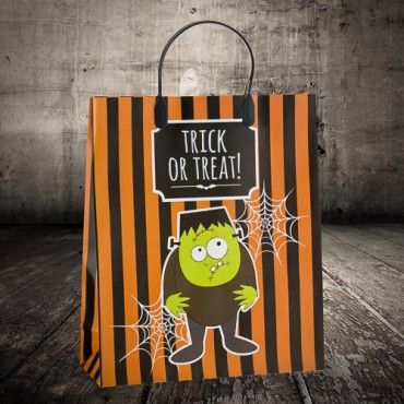Halloween Trick Or Treat Bag Frankenstein