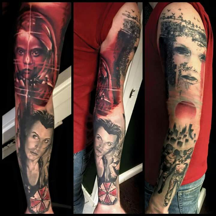 #tatoo #art | Resident evil tattoo, Sleeve tattoos, Tattoos