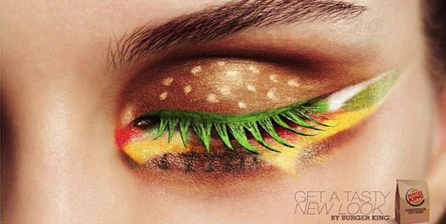 "My first thought: Eeeew.   My second thought: Now I have ""Hungry Eyes,"" stuck in my head.: New Looks, Eye Makeup, Eye Shadows, Eyeshadows, Eyemakeup, Fast Food, Burgers King, Burger Kings"