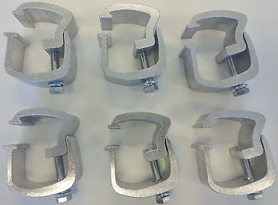 Truck Cap Mounting Clamps - Low Profile - 6 piece Rocker Style AC101