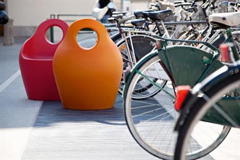 Plastic Outdoor Armchair Baba By Orlandini and Radice For Domitalia