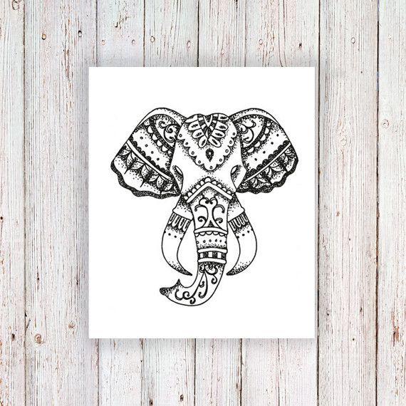 Elephant temporary tattoo   Bohemian summer, Design and Summer
