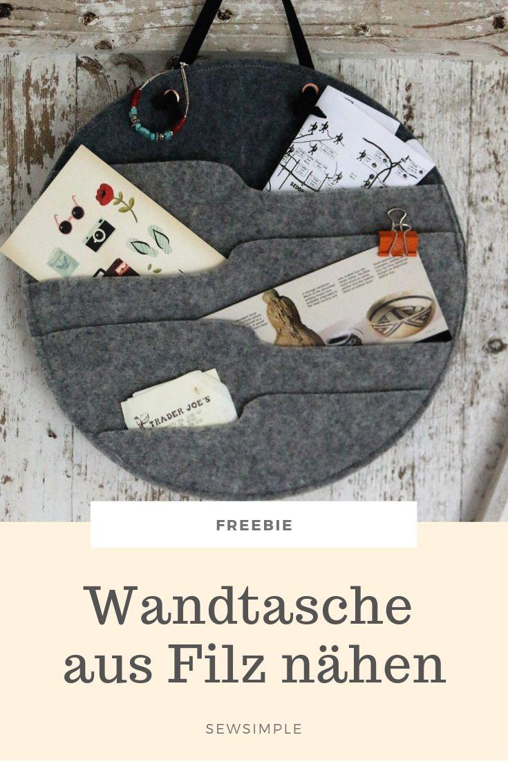 Freebie: Wandtasche im Hygge Stil nähen