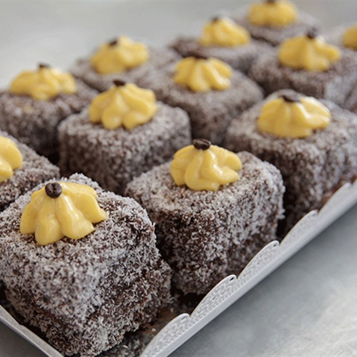 Try this Tiramisu Lamingtons  recipe by Chef Monica. This recipe is from the show The Great Australian Bake Off.