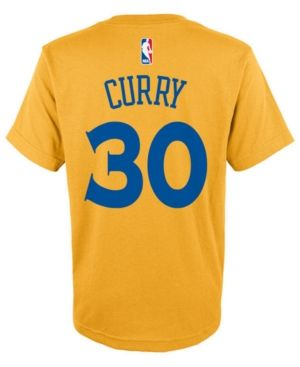adidas Toddlers' Stephen Curry Golden State Warriors Player T-Shirt - Gold 2T
