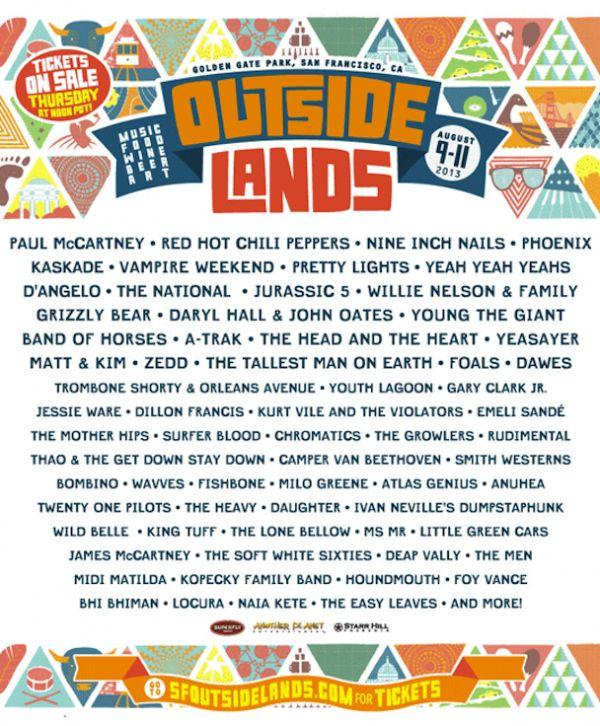 Event Preview: Outside Lands Music Festival (San Francisco, CA) | ElectroJams #OutsideLands #California #SanFrancisco #EDM #Festivals
