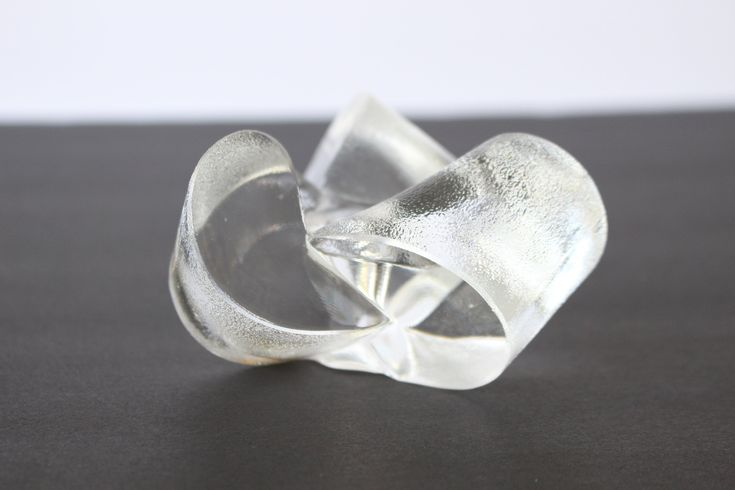 Rosenthal Studio Line Crystal Candle Holder / Michael Boehm Design / German Art Glass / Chandelier Loop