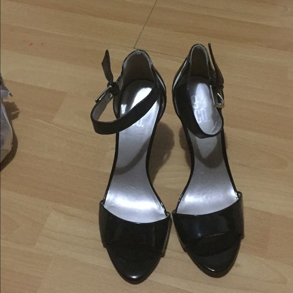 Black and white heels Black and white strappy heels Shoes Heels