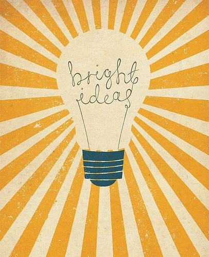 Bright Idea...Brainstorming Session followed by posting of Bright Ideas on Light Bulbs...THINK TANK!!!