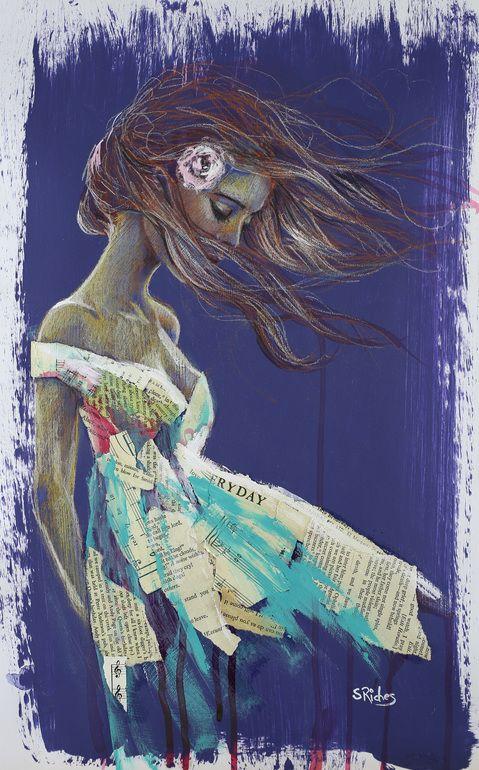 "Saatchi Art Artist: Sara Riches; Pencil 2013 Drawing ""Paper Doll"""