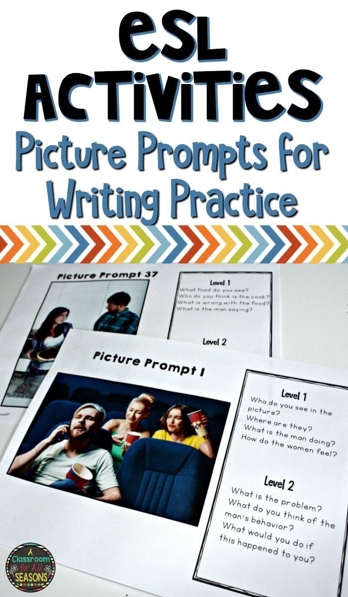 Esl Activities For Writing Practice These Engaging Picture Prompts Are A Fun Acti Esl Writing Activities Writing Activities Teaching English Language Learners Esl writing activities upper