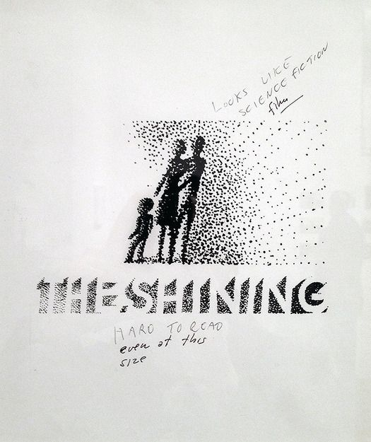 Saul Bass designed the movie poster for The Shining, but not without plenty of comments from Stanley Kubrick.