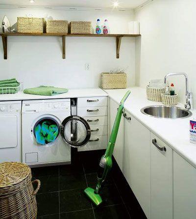 Välplanerad tvättstuga gör jobbet roligare   Tvättstuga   Bad  