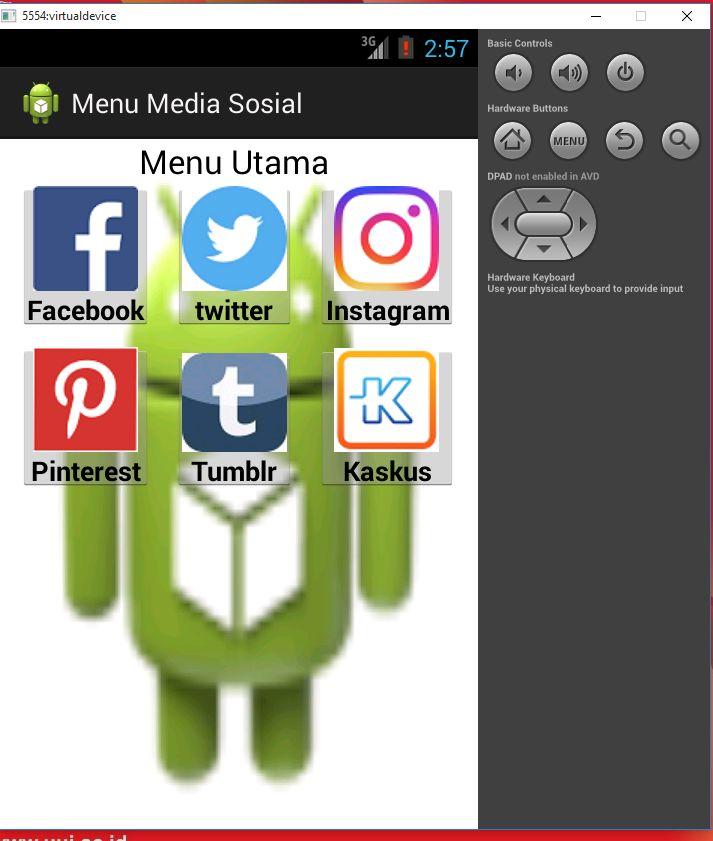 Tutorial Android 10 : Membuat Menu Utama Dashboard
