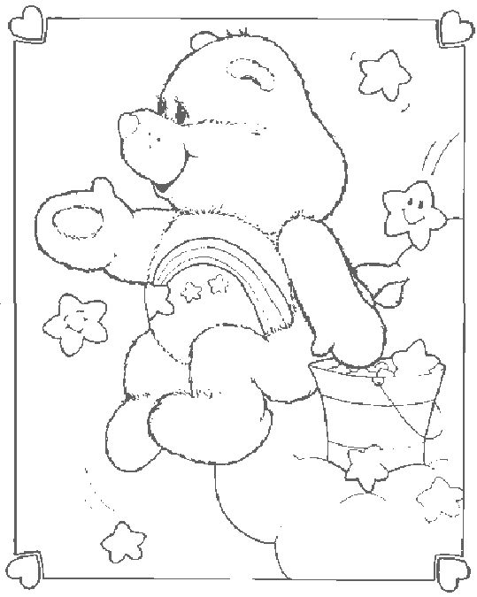 wish bear coloring pages - photo#3