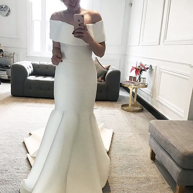 SADIE | Absolutely adore our new Sadie gown! Corset through the bodice to give you smooth lines. Thank you @brookecruise1 for modelling | Book an appointment via enquiries@loveoneday.com.au to try this stunner on! | #sadie #electricdreamers #chosen #chosenbyoneday  #Regram via @chosenbyoneday