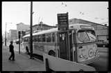 BC Hydro CCF-Brill electric trolley bus. Route #25-Victoria bus on East Hastings Street at Gore Avenue
