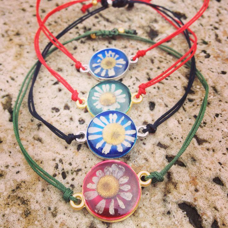Press flowers bracelet...