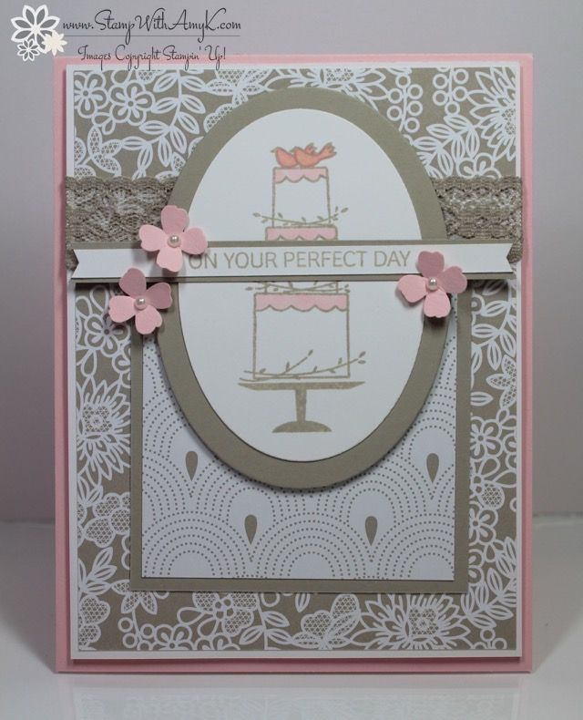 wedding anniversary card pictures%0A Stampin u     Up  Your Perfect Day Wedding Card